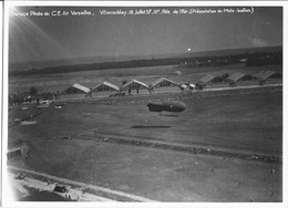 Service Photo. C.E. Air Versailles Villacoublay 18-7-37- ( Présentation Moto Ballon - Ancienne Photo Avion - Aviation ) - Luchtvaart