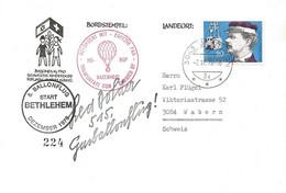 "68 - 86 - Enveloppe Suisse ""5. Ballonflug Start Bethlehem 1978"" - Mongolfiere"