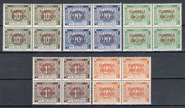 RUANDA-URUNDI: COB TX 15b/19b In Blok Van 4 Met Opdruk POSTFRIS ** MNH. - Postage Due: Mint/hinged Stamps