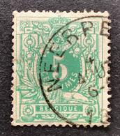 Liggende Leeuw 45 - 5c Gestempeld EC NEERPELT - 1869-1888 Leone Coricato