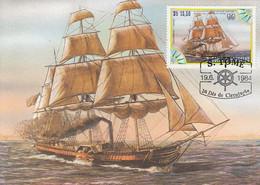 SAO TOME AND PRINCIPE Maximum Card 920,ships - Barcos