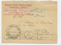 LETTRE MINISTERE DE LA GUERRE PARIS 2 MARS 1940 + MISSION MILITAIRE FRANCO TCHECOSLOVAQUE - WW II