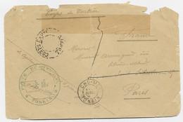 LETTRE MAUVAISE ETAT CHO MOI TONKIN 1897 + CORPS EXP TONKIN + POSTE DE YEN TINH - Storia Postale
