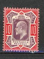 GB -1902 Yv. N° 116 SG N° 311  *  10 D  Rouge Et Violet-brun  Cote 130  Euro Ou  £ 80  BE  2 Scans - Unused Stamps