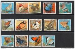 2007 Botswana Butterflies  Complete Set Of 14 MNH - Botswana (1966-...)
