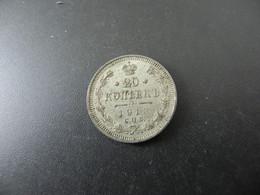 Russia 20 Kopeks 1913 Silver - Russia