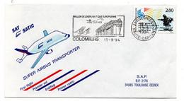Lettre  / Premier Jour   /  Super Airbus Transporteur  / Colomiers / 13-9-94 - Aerei