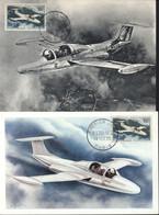 FDC Premier 1er Jour M.S. 760 Paris 14 FEV 1959 Paris Avion YT Poste Aérienne N°35 300F 2 Cartes Maximum CM Différentes - 1950-59