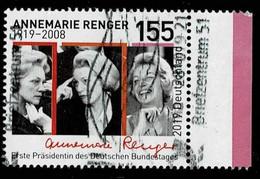 Bund 2019,Michel# 3499 O Annegret Renger - Gebruikt