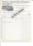 94 - Val-de-marne - ARCEUIL - Facture RASPAIL - Produits Hygiéniques - 1910 - REF 295C - 1900 – 1949