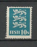 ESTLAND Estonia 1928 Michel 79 (*) Dunkelblau Selten! Ohne Gummi/mint No Gum - Estonia