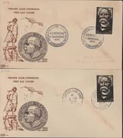 2 FDC First Day Cover Premier Jour D'émission Georges Clemenceau CAD Musée Cl. 11 11 51 + St Vincent Sur Jard YT 918 - 1950-1959