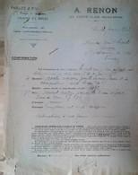 G 22 Facture/document Entete  Facture/document Entete  Graines/ Ou Fourrages/ Ou Pommes/ Ou Engrais/  à La Ferté Allais - Landwirtschaft