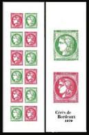 France 2020 - Yv N° 1527 ** - Carnet - Salon D'Automne - Cérès De Bordeaux (timbres 5450 à 5453) - Ungebraucht
