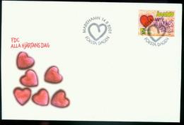 Fd Aland Islands FDC 2001 MiNr 190   St. Valentine's Day. Heart And Graffiti On Brick Wall - Aland