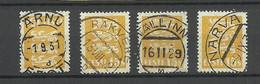 ESTLAND Estonia 1929/32 Michel 81 With Better Cancels - Tallinn Rakvere Pärnu Narva - Estonia
