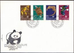 LIECHTENSTEIN - WWF  TURTLE - BIRDS - CANCER - FDC - 1976 - FDC