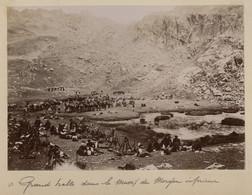 ° Chasseurs Alpins - Cantonnements Et Manoeuvres Du 7ème Groupe Alpin 1896 ° Grande Halte Dans Le Massif Du Morgon ..... - Guerra, Militari