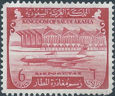 Arabia Saudita - Saudi Arabia - Arabie Saoudite, Revenue Stamp,Airport Tax 6R ,Mint Rare! - Saudi Arabia