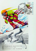 ► LILLEHAMMER - Slalom Ski - 1994 Winter Olympics Jeux Olympiques - Maximum Card  (Vaduz 1.60) - Ski