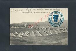MILITARIA CPA FRANCHISE MILITAIRE ECRITE EN 16 BRIGNOLES CAMP 6,23,24, CACHET UNION FEMME DE FRANCE PARIS & 27 ALPINS : - Guerre De 1914-18