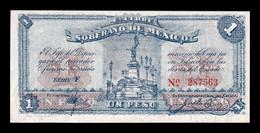México Estado Libre Y Soberano 1 Peso 1915 Pick S881 SC UNC - Mexico