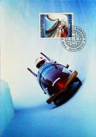 ► LILLEHAMMER - Bobsleigh  - 1994 Winter Olympics Jeux Olympiques - Maximum Card  (Vaduz 2.40) - Ski