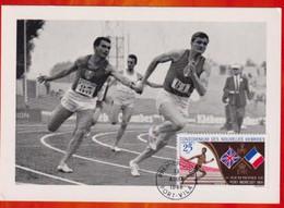 CM-Carte Maximum Card # 1969-New Hebrides,Neu Hebriden # Sport - 2°South Pacific Games ,course à Relais, Running Vila - Cartoline Maximum