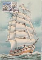 CM-Carte Maximum Card # 1968-New Hebrides,Neu Hebriden #Bateaux, Voilier,Segelschiff,sailing Ship Port-Vila ( Edit. BD) - Tarjetas – Máxima