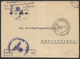 Dienstbrief 12.01.1943 Der Staatsanwaltschaft Beuthen O/S, Kattowitz An Das Strafgefangenenlager VII In Esterwegen - Covers & Documents