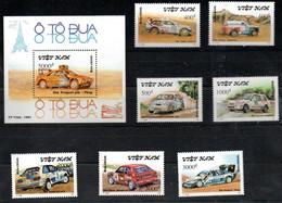 Vietnam 2336-2342 Block 89 Mnh **, Auto Car Voiture Peugeot Lada Nissan Mazda Lanela - Viêt-Nam