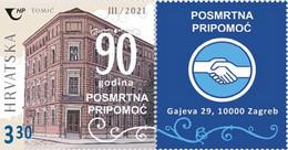 CROATIA, 2021, MNH , POSMRTNA PRIPOMOC, FUNERAL HOME, FUNERAL ASSISTANCE, 1v+TAB - Other