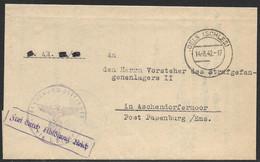 Dienstbrief 14.08.1942 Der Staatsanwaltschaft Oels (Schlesien) An Strafgefangenenlager II In Aschendorfermoor Papenburg - Covers & Documents