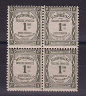 D 159 / TAXE /  LOT N° 43 BLOC DE 4 NEUF** COTE 12€ - Collezioni