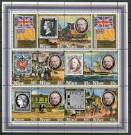 Niue Mi# Block 20 Postfrisch/MNH - Stamp On Stamp, Mail Transport - Niue