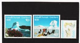 DDT478  GRÖNLAND  1991  Michl  217/19  ** Postfrisch SIEHE ABBILDUNG - Unused Stamps