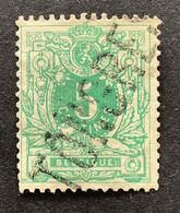 Liggende Leeuw 45 - 5c Gestempeld GRIFFE TONGRES - 1869-1888 Leone Coricato
