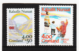 DDT483  GRÖNLAND  1992  Michl  228/29  ** Postfrisch SIEHE ABBILDUNG - Unused Stamps