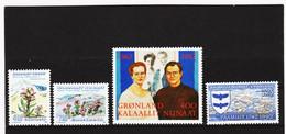 DDT484  GRÖNLAND  1992  Michl  223/26  ** Postfrisch SIEHE ABBILDUNG - Unused Stamps