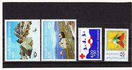 DDT485  GRÖNLAND  1993  Michl  234/37  ** Postfrisch SIEHE ABBILDUNG - Unused Stamps