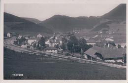 Travers NE, Village, Chemin De Fer Et Gare (8990) - NE Neuchatel
