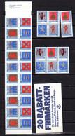Suède 1986, Armoiries De Provinces, 3x 1368 / 1371** + C 1368**,(60,80 Sek), Cote 64 €, - Unused Stamps