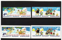 DDT547  GRÖNLAND  2002  Michl  389/92  ** Postfrisch SIEHE ABBILDUNG - Unused Stamps