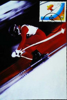 ► China Maximum Card 1996 Sports - Speed Ski Vitesse - The 3rd Asian Winter Games - Ski
