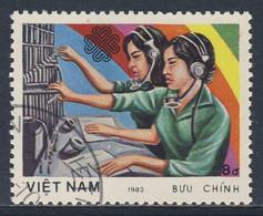 Vietnam 1983 Mi 1364 YT 466 SG 621 - Used - Telephonists - World Communications Year/ Telefonvermittlung - Andere