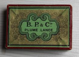 Boîte De 144 Plumes Anciennes En Acier Lance N°29 Blanzy Poure & Cie Plume Sergent Major - Pens