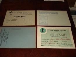 ROESELARE / 4 DOCUMENTJES   ...  ---  ( Lot Kaft : Waf -  192 ) - Roeselare