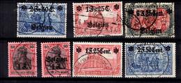 Belgique Sept Timbres Occupation Allemande  Oblitérés 1916/1918. Bonnes Valeurs. B/TB. A Saisir! - Army: German
