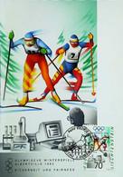 ► ALBERTVILLE -  Ski De Fond Cross Country - 1992 Winter Olympics Jeux Olympiques - Carte Maximum Card (Vaduz) - Ski