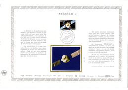 """"""" TELECOM 1 """" Sur Feuillet DAP 1° Jour CERES En Soie RARE (4200 Ex) De 1984 N° YT 2333. Parfait état - Zonder Classificatie"""